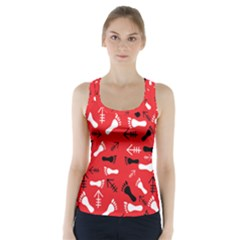 Red Racer Back Sports Top by HASHHAB