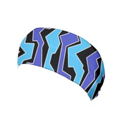 Vertical Blues Polynoise Yoga Headband by jumpercat