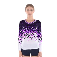 Flat Tech Camouflage Reverse Purple Women s Long Sleeve Tee by jumpercat