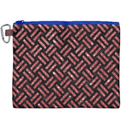 Woven2 Black Marble & Red Glitter (r)woven2 Black Marble & Red Glitter (r) Canvas Cosmetic Bag (xxxl) by trendistuff