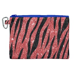 Skin3 Black Marble & Red Glitter Canvas Cosmetic Bag (xl) by trendistuff