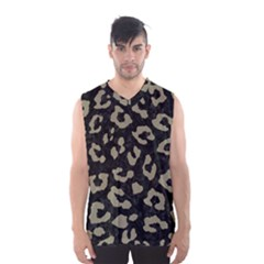 Skin5 Black Marble & Khaki Fabric Men s Basketball Tank Top