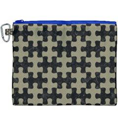 Puzzle1 Black Marble & Khaki Fabric Canvas Cosmetic Bag (xxxl) by trendistuff