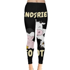 Friends Not Food   Cute Cow, Pig And Chicken Leggings  by Valentinaart