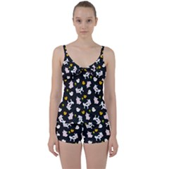 The Farm Pattern Tie Front Two Piece Tankini