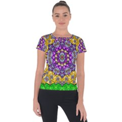 Sunshine In Mind The Season Is Decorative Fine Short Sleeve Sports Top  by pepitasart