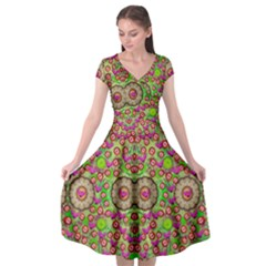 Love The Wood Garden Of Apples Cap Sleeve Wrap Front Dress by pepitasart