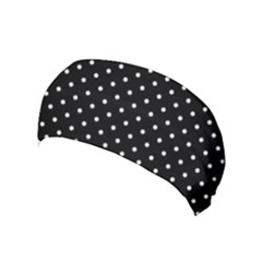Black Polka Dots Yoga Headband by jumpercat