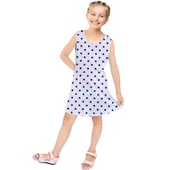 White Polka Dots Kids  Tunic Dress