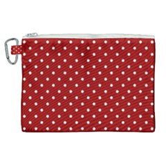 Red Polka Dots Canvas Cosmetic Bag (xl) by jumpercat