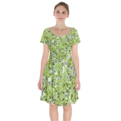 Leaves Fresh Short Sleeve Bardot Dress by jumpercat