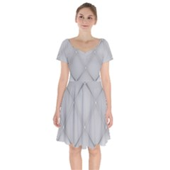 Background Light Glow White Grey Short Sleeve Bardot Dress