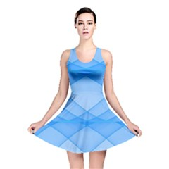 Background Light Glow Blue Reversible Skater Dress