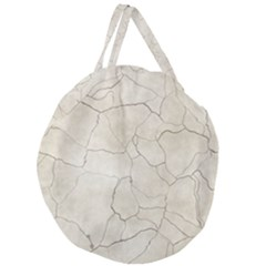 Background Wall Marble Cracks Giant Round Zipper Tote