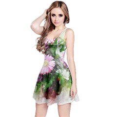 Flowers Roses Bouquet Art Nature Reversible Sleeveless Dress