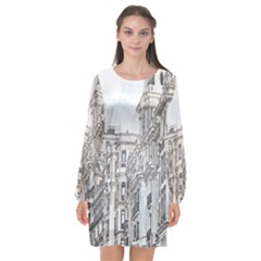 Architecture Building Design Long Sleeve Chiffon Shift Dress  by Nexatart