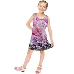 Flowers Bouquet Wedding Art Nature Kids  Tunic Dress by Nexatart