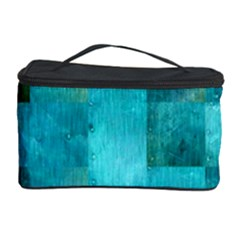 Background Squares Blue Green Cosmetic Storage Case