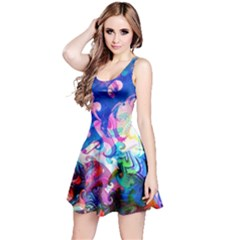 Background Art Abstract Watercolor Reversible Sleeveless Dress