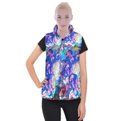 Background Art Abstract Watercolor Women s Button Up Puffer Vest by Nexatart