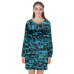 Wall Metal Steel Reflexions Long Sleeve Chiffon Shift Dress  by Nexatart