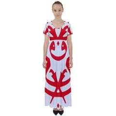 Malaysia Unmo Logo High Waist Short Sleeve Maxi Dress by abbeyz71