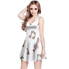 Vip Note Print Reversible Sleeveless Dress by ThreadsBySkyBox