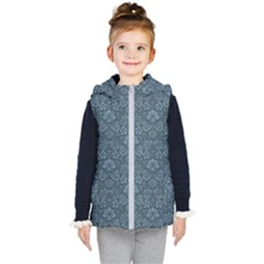 Damask Blue Kid s Puffer Vest by snowwhitegirl