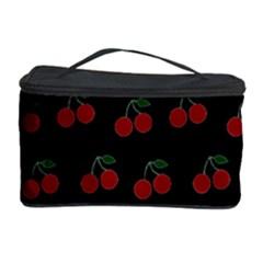 Cherries Black Cosmetic Storage Case by snowwhitegirl