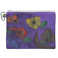 Flowers Canvas Cosmetic Bag (xxl) by snowwhitegirl