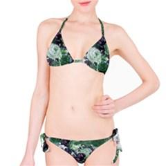 Rose Bushes Green Bikini Set