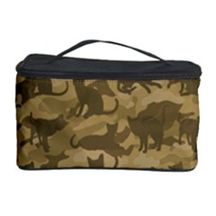 Operation Desert Cat Camouflage Catmouflage Cosmetic Storage Case by PodArtist