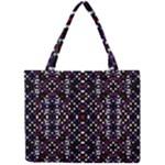 Futuristic Geometric Pattern Mini Tote Bag