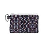 Futuristic Geometric Pattern Canvas Cosmetic Bag (Small)