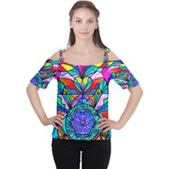 Heart Cakra   Anahata   Cutout Shoulder Tee