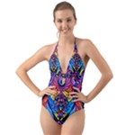 The Time Wielder - Halter Cut-Out One Piece Swimsuit