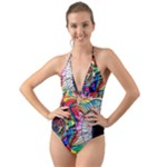 Return to Source - Halter Cut-Out One Piece Swimsuit