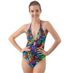Lyra - Halter Cut-Out One Piece Swimsuit