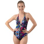 Pleiades - Halter Cut-Out One Piece Swimsuit