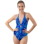 Arcturian Calming Grid - Halter Cut-Out One Piece Swimsuit