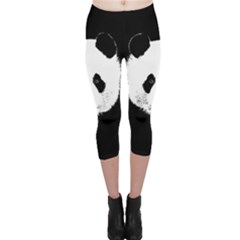 Panda  Capri Leggings  by Valentinaart
