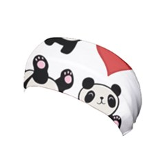 Panda Yoga Headband by Valentinaart