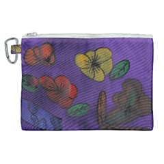 Flowers Canvas Cosmetic Bag (xl)