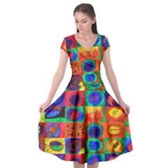 Water Color Eggs Tile Cap Sleeve Wrap Front Dress by snowwhitegirl