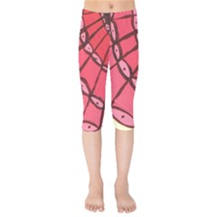 Red Fan Kids  Capri Leggings  by snowwhitegirl