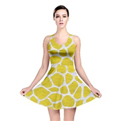 Skin1 White Marble & Yellow Leather (r) Reversible Skater Dress by trendistuff
