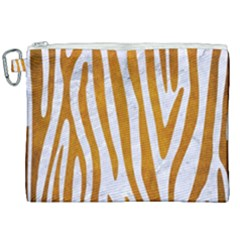 Skin4 White Marble & Yellow Grunge Canvas Cosmetic Bag (xxl) by trendistuff