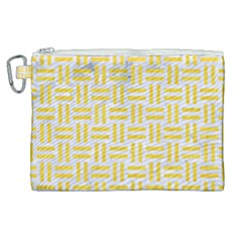 Woven1 White Marble & Yellow Colored Pencil (r) Canvas Cosmetic Bag (xl) by trendistuff