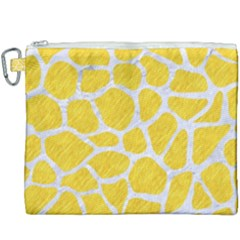 Skin1 White Marble & Yellow Colored Pencil (r) Canvas Cosmetic Bag (xxxl) by trendistuff