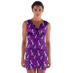 Hares Wrap Front Bodycon Dress by greenthanet